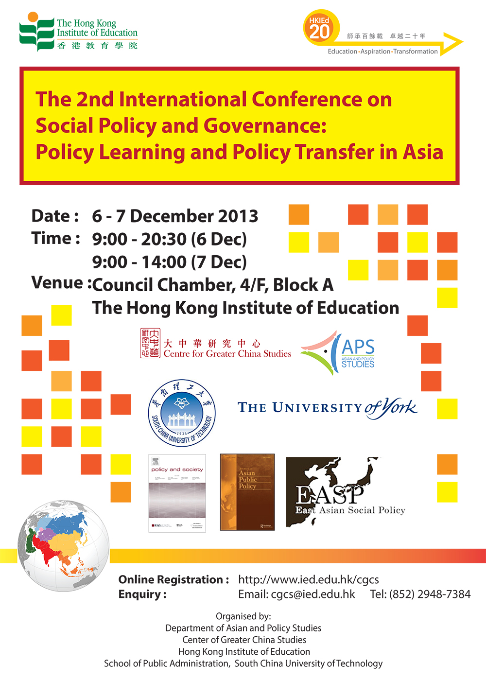 The 2nd International Conference on Social Policy and Governance Innovation: Policy Learning and Policy Transfer in Asia