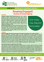 UNESCO Research Seminars series: Active ageing, active learning