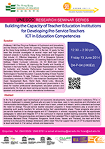 [UNESCO Research Seminar Series] Building the Capacity of Teacher Education Institutions for Developing Pre-Service Teachers ICT in Education Competencies